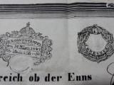 TIMBRE FISCALE VECHI 1847 - STAMPILA FISCALA - 6 KREUZER - AUSTRIA