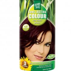 Vopsea de Par HennaPlus Long Lasting Colour Red Violet Brown 4.67