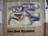 AFIS - EXPOZITIA DECIKO UZUNOV ( pictura) - SALA DALLES - 1970
