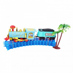 Trenulet cu baterii si traseu configurabil