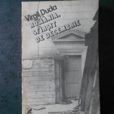 VIRGIL DUDA - ROMANIA. SFARSIT DE DECEMBRIE