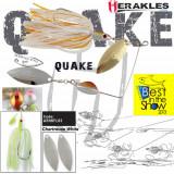 Spinnerbait Herakles Quake, Chartreuse/White, 17.5g