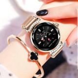 Ceas pentru femei H2 Smartwatch, 2019 Pedometru PPG, Ciclu, Bratara de AUR