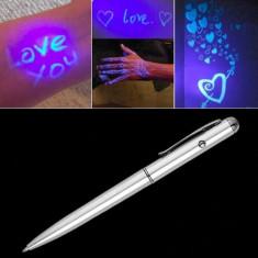 Pix cu cerneala invizibila , pasta si lumina UV foto