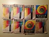 Lot 8 plicuri GALLUS, vopsea textile, comunism, Colorom Codlea, culori diferite