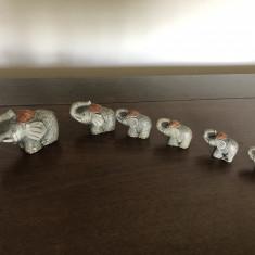 Set de sase elefanti din compozit,marimi diferite