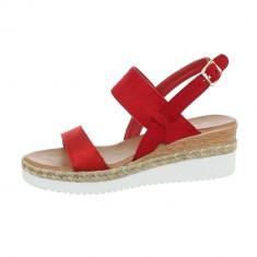 Sandale sic, rosii, cu platforma foto