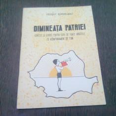 DIMINEATA PATRIEI - TEODOT BORDEIANU (CANTECE SI CORURI PENTRU COPII DE TOATE VARSTELE CU ACOMPANIAMENT DE PIAN)