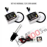 Set xenon H3 NORMAL 12V 35W 6000K