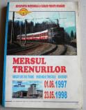 1997-1998 Mersul trenurilor de calatori CFR, Caile Ferate Romane