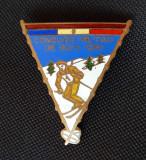 Insigna Concurs militar de schi 1951 - Rara - Ski