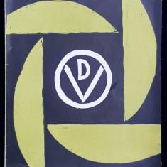 VASILE DOBRIAN - PLIANT DE EXPOZITIE , CONTINE O LINOGRAVURA COLOR ORIGINALA * , FEBRUARIE 1967