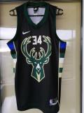 Maiou Milwaukee Bucks NBA, Negru, L, S, XL, XXL