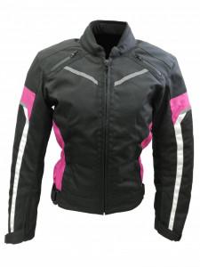 Geaca Textil Dama cu protectii , Culoare Negru/Roz , marimea M Cod Produs: MX_NEW MX6533