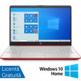 Cumpara ieftin Laptop Nou HP 15-DW1083, Intel Pentium Gold Gen 10 6405U 2.40GHz, 4GB DDR4, 128GB SSD, 15.6 Inch, Webcam, Scarlet Red + Windows 10 Home