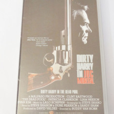 Caseta video VHS originala film tradus Ro - Dirty Harry in Joc Mortal
