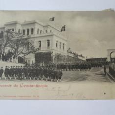 Cumpara ieftin Carte postala Salutări din Constantinopol-Armata Otomană,poș.engleză Levant 1901