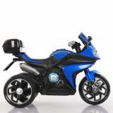 Motocicleta electrica 6V cu lumini LED Karachi Blue, Moni