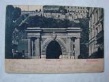 Carte postala circulata la Orsova in 1899, BUDAPESTA Alagut - Tunell, Ungaria, Printata