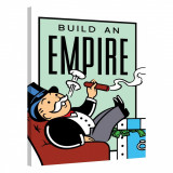 Tablou Canvas, Tablofy, Build An Empire · Monopoly Edition, Printat Digital, 90 × 120 cm