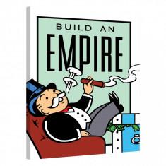 Tablou Canvas, Tablofy, Build An Empire · Monopoly Edition, Printat Digital, 70 × 100 cm