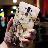 Husa de telefon cu flori de piersic si cu imaginea Universului, pentru Huawei P9/p10/p20/p20lite/p10plus