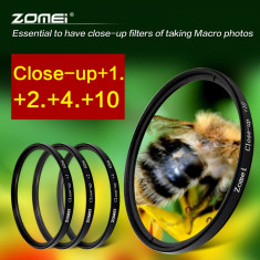 Set 4 Filtre Close UP +1+2+4+10 pe 52mm Zomei Pt. DSLR Mirrorless etc.