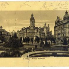 AD 901 C. P. VECHE -LEIPZIG -NEUES RATHAUS -CIRCULATA 1913 LA IONEL OPRISAN, BUC