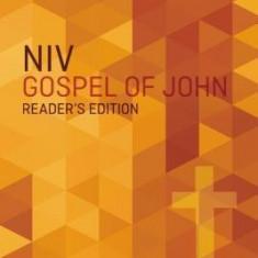 NIV, Gospel of John, Reader's Edition, Paperback