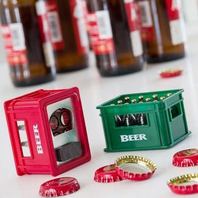 Desfacator de sticle cu magnet tip lada de bere foto