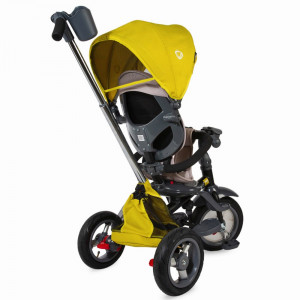 Tricicleta multifunctionala 4 in 1 cu sezut reversibil Coccolle Velo Air Mustar