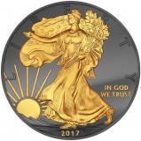SUA 1 DOLLAR - AMERICAN EAGLE- 2017/ 1 oz./ Ag. 0999 / 40,6 mm /BU, America de Nord