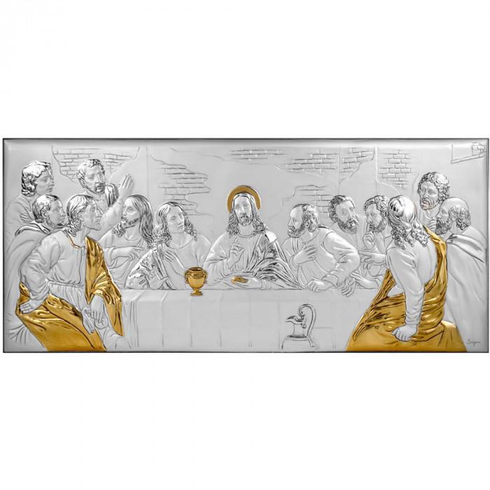 Cina cea de Taina Icoana Argint 23x10cm COD: 3127