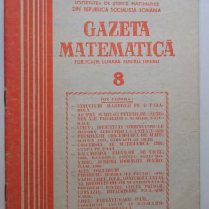 Gazeta matematica nr. 8 din 1985
