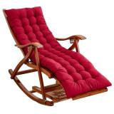Balansoar de terasa sezlong fotoliu living lemn rezistent cu perna rosie
