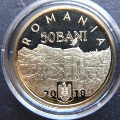 ROMANIA 50 BANI 2018 - PROOF -  140 de ani de la Unirea Dobrogei (45)