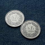 2m - Lot 1/2 Franc 1981 + 1989 Elvetia / lot 2 monede, Europa