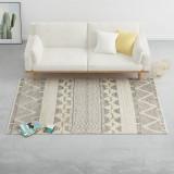 Cumpara ieftin Covor lână țesut manual, 160 x 230 cm, alb/gri/negru/maro