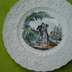 Portelan englezesc Adams Valentine series-1840 Period, frumoasa farfurie