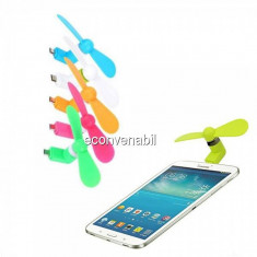 Mini Ventilator Portabil Coooler Telefon Tableta mufa Micro USB OTG