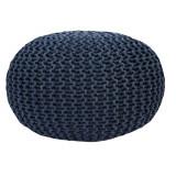 Taburet tricotat bumbac gri GL GOBI TIPUL 2
