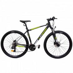 Bicicleta MTB Afisport 2921 L 495mm Negru Verde 29