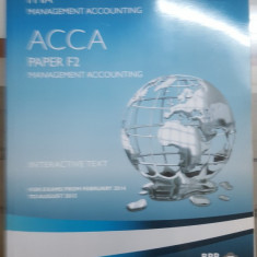 Management Accounting, Interactive text, Paper F2, ACCA, 2014