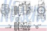 Compresor clima / aer conditionat SEAT EXEO ST (3R5) (2009 - 2016) NISSENS 89415