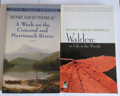 Henry David Thoreau - Walden + A Week on the Concord and Merrimack Rivers 2 vol. foto