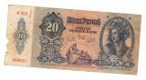 Bancnota Ungaria 20 pengo 15 ianuarie 1941, circulata