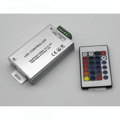 Controller Banda LED RGB cu Telecomanda IR 24 taste