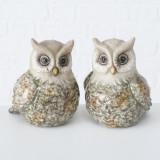 Cumpara ieftin Decoratiune din ceramica Kuga Owl Multicolor, Modele Asortate, l10xA9xH11 cm