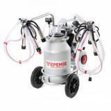 Cumpara ieftin Aparat de muls vaci VEPEMIR 2 posturi si 1 bidon Aluminiu 20 litri
