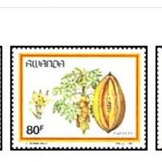 Rwanda 1987 - fructe, serie neuzata